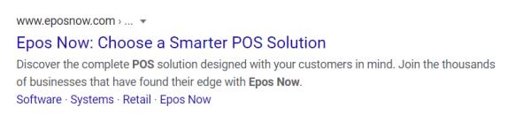 Epos Now SERP SEO Tip