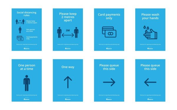 Epos Now free printable social distancing signs