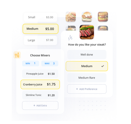 Build the perfect digital menu USD