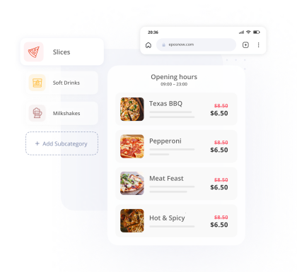 Pizza Shop Order Pay Products Dollar